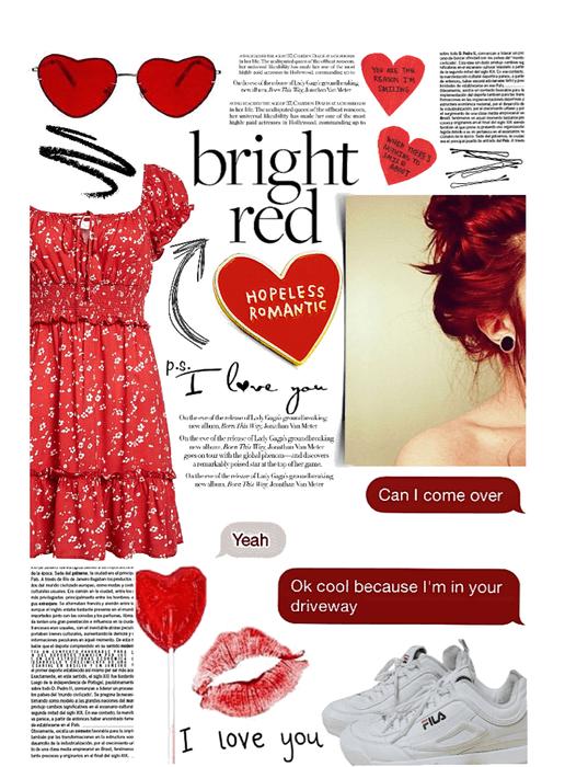 bright red ❤️ so in love