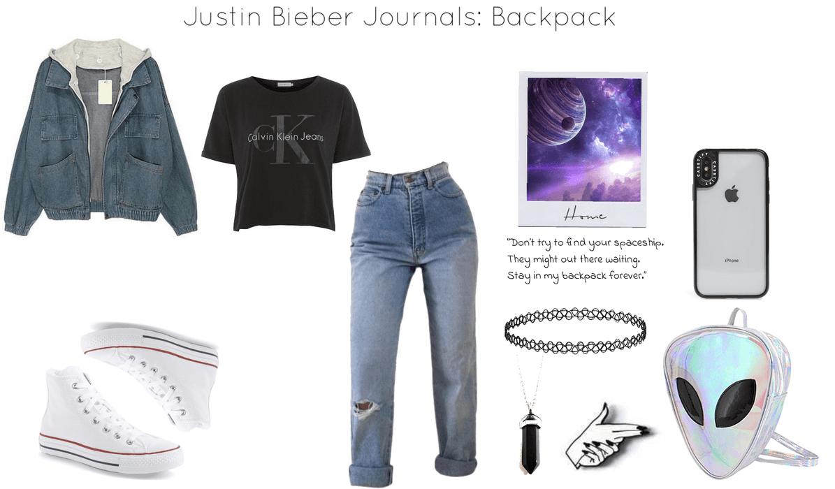 Justin Bieber Journals: Backpack