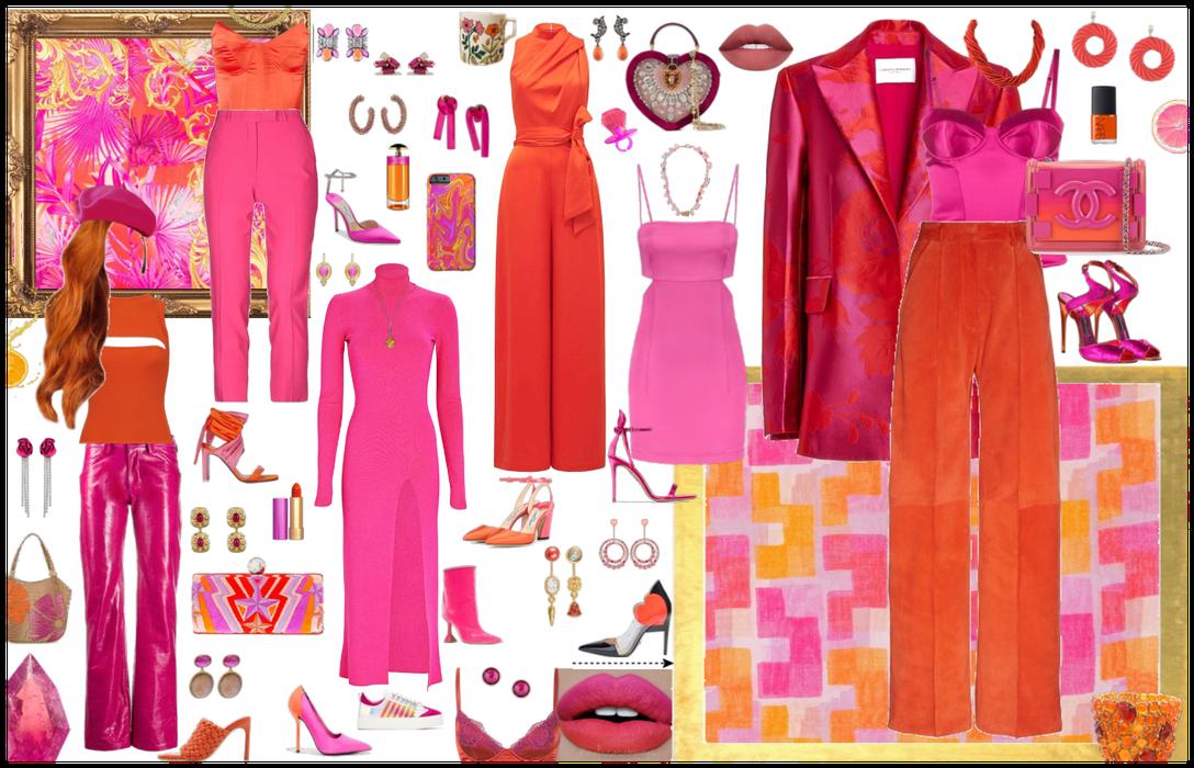 Sassy Pink & Classy Orange