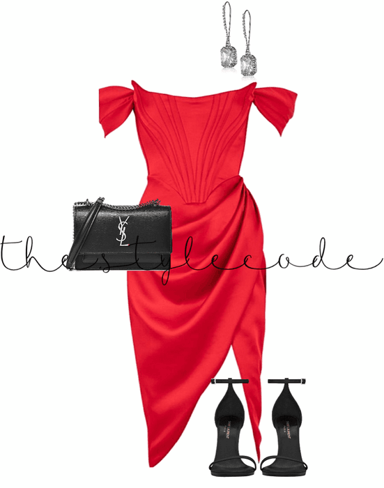 Nothing attracts attention like a red dress.