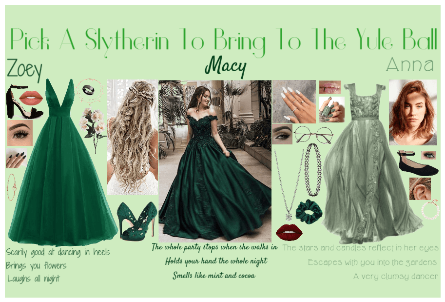Pick a Slytherin To Bring To The Yule Ball