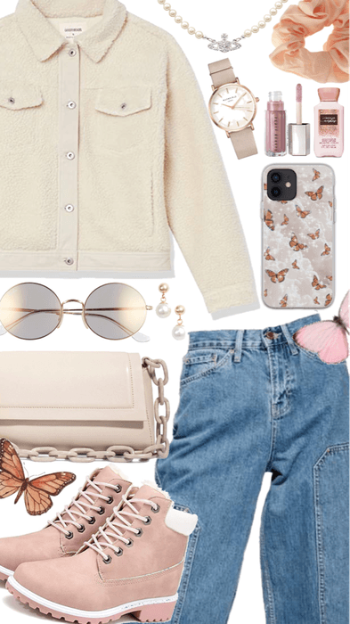 Cozy winter street outfit