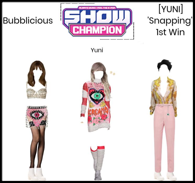 Bubblicious (신기한) [YUNI] 'Snapping' 1st Win