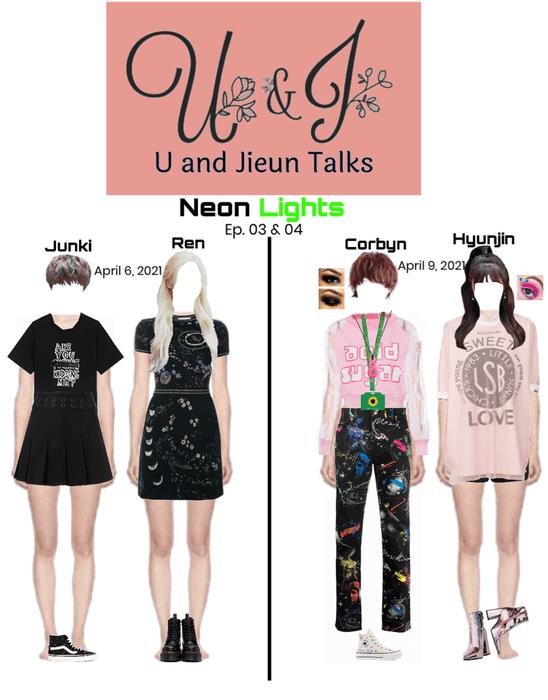 Neon Lights Junki, Ren, Corbyn, & Hyunjin on U and Jiuen Talk Ep. 03 & 04