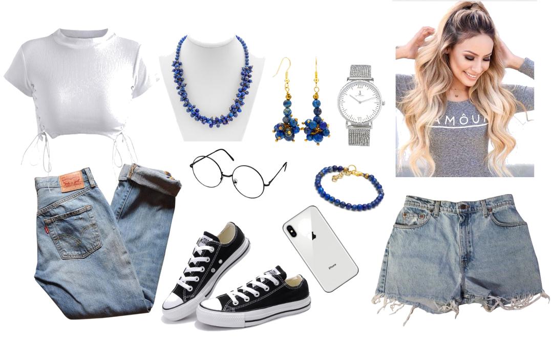 Lapis Lazuli Necklace Bracelet & Earrings