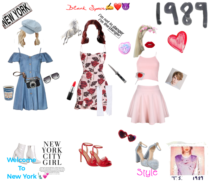 Outfits as Tay Swifts 1989 Songs😍💕💙