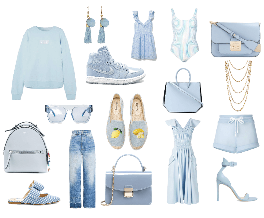 baby blue mood board