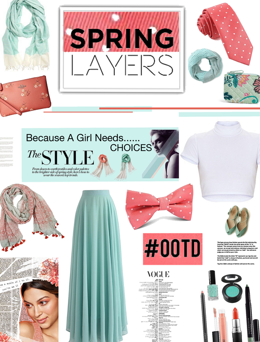 HELLO SPRING/LAYERING /SCARVES,BOWTIES,TIES OH MY