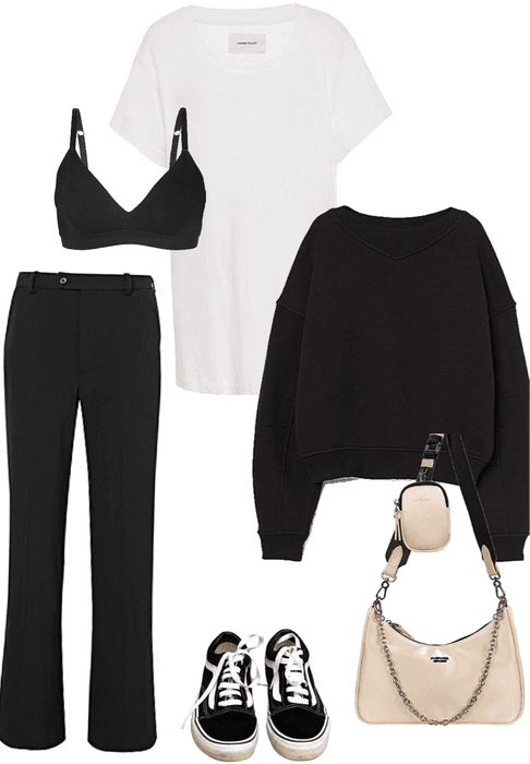 minimalistic casual everyday look