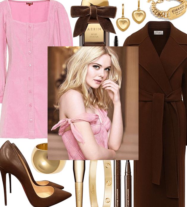 FALL 2020: Pink + Chocolate Corduroy Style