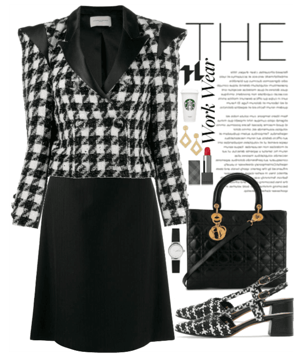 Elegance with Houndstooth