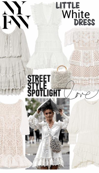 NYFW Street Style - Little White Dress LWD