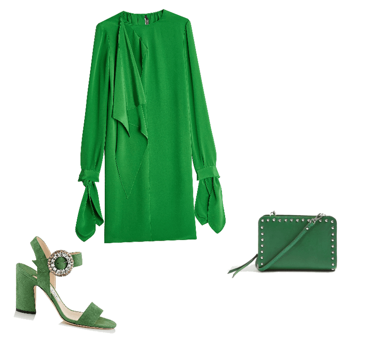 Green and crystals