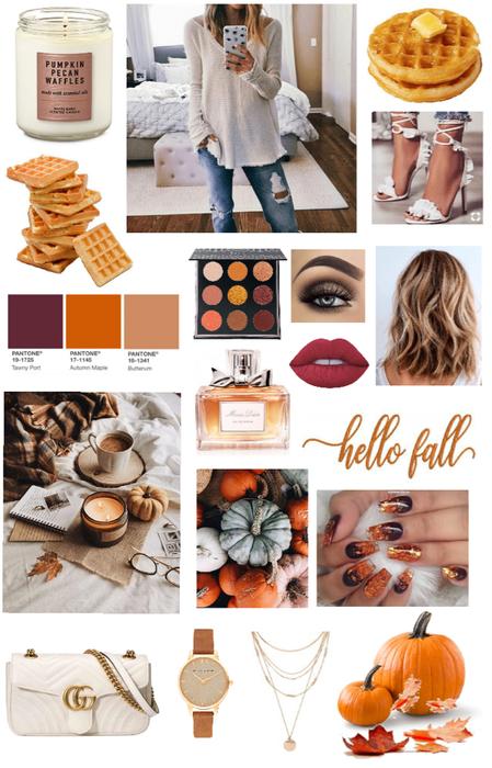 Hello fall🍁~Pumpkin pecan waffles