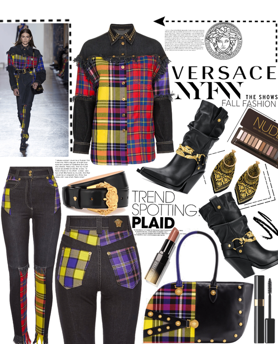 Versace Plaid NYFW
