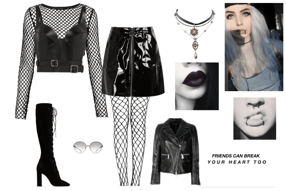 Kayla's Gothic Outfit.