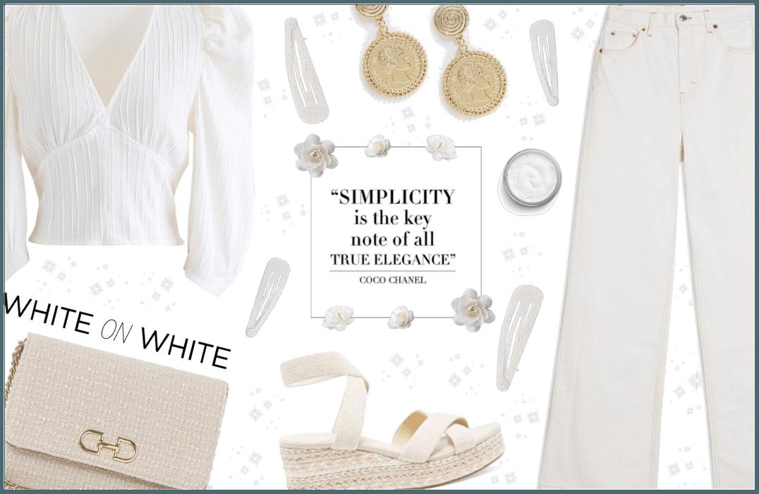 White on white!