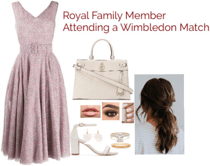 Royal Family Member Attending a Wimbledon Match