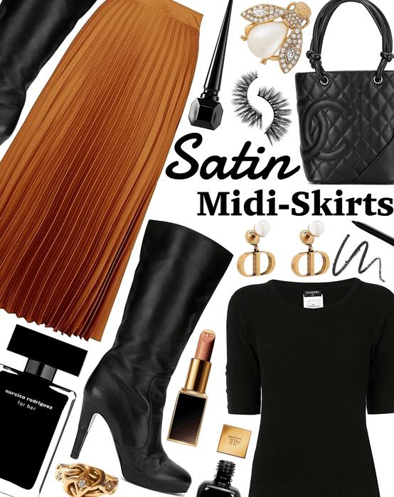SUMMER 2020: Satin Midi-Skirts
