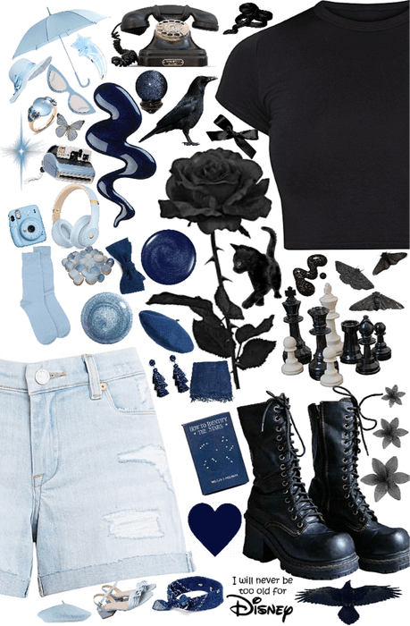 Crazy Cluttered Black to Blue
