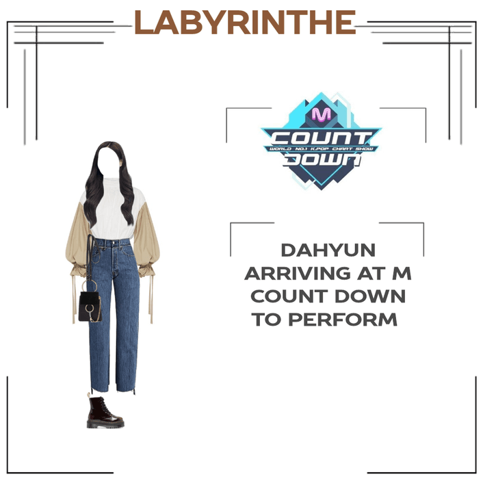 Dahyun arrived at m count down