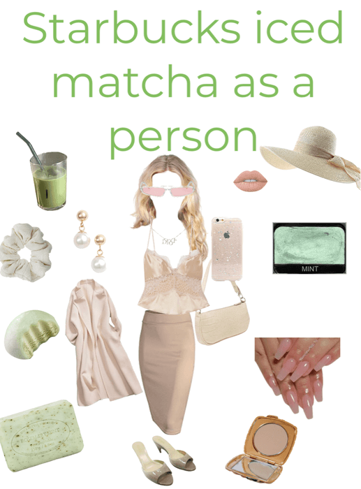 if starbucks iced matcha was a person 🍵