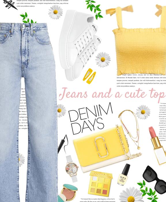 Jeans & a cute top