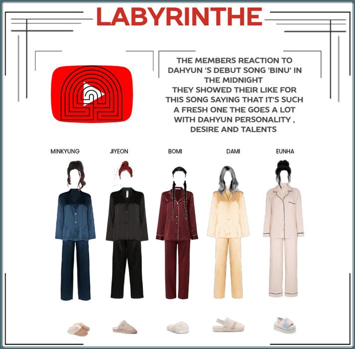 LABYRINTHE members reaction to dahyun 'binu'