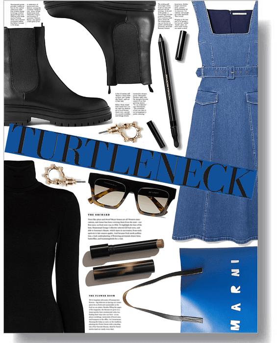 turtleneck + dress combo
