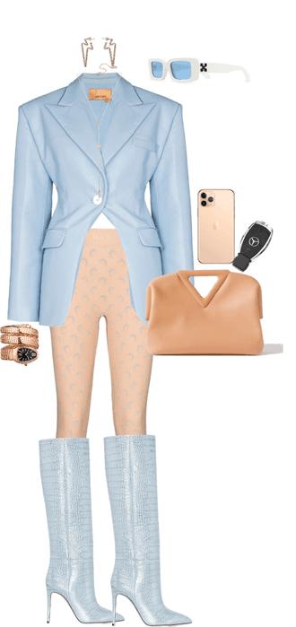 pastel blazer elegance