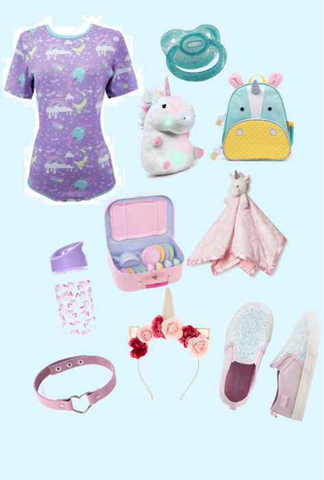 unicorn age regression outfit