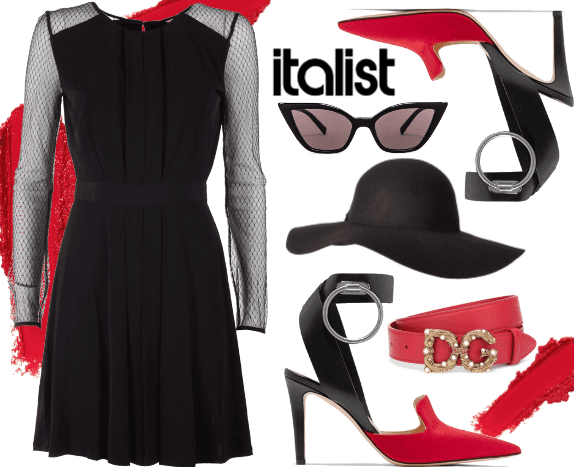 "The ""italist"" dress."