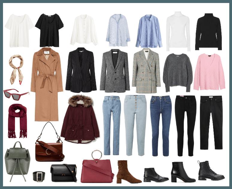 Capsule cold autumn wardrobe