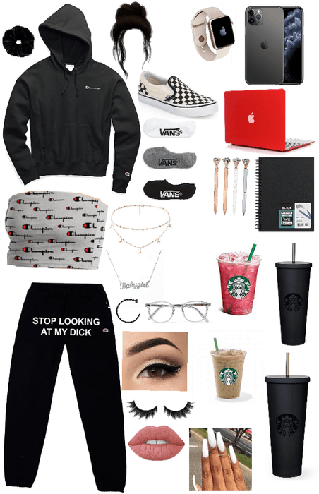 what I wear during school (at home)