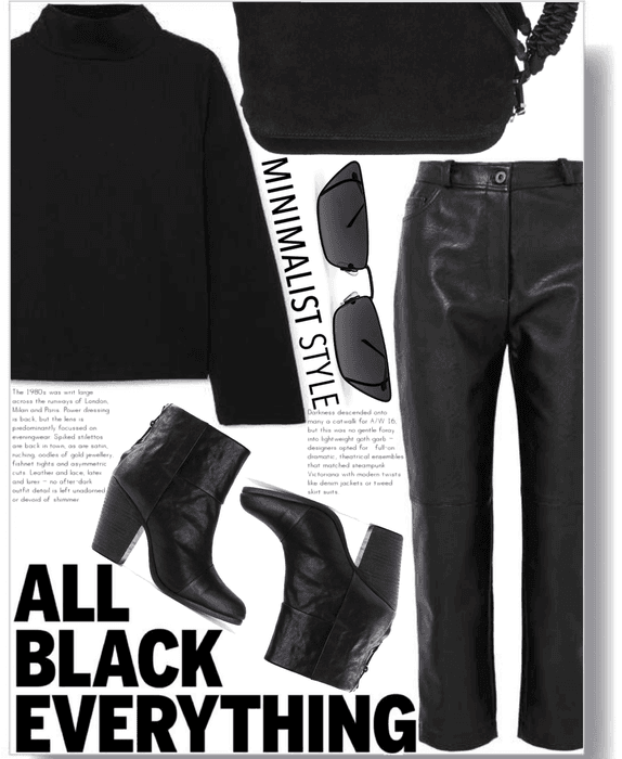 Minimalist Style #6 (All Black Everything Edition)