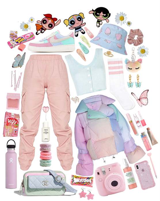 pastels in the street