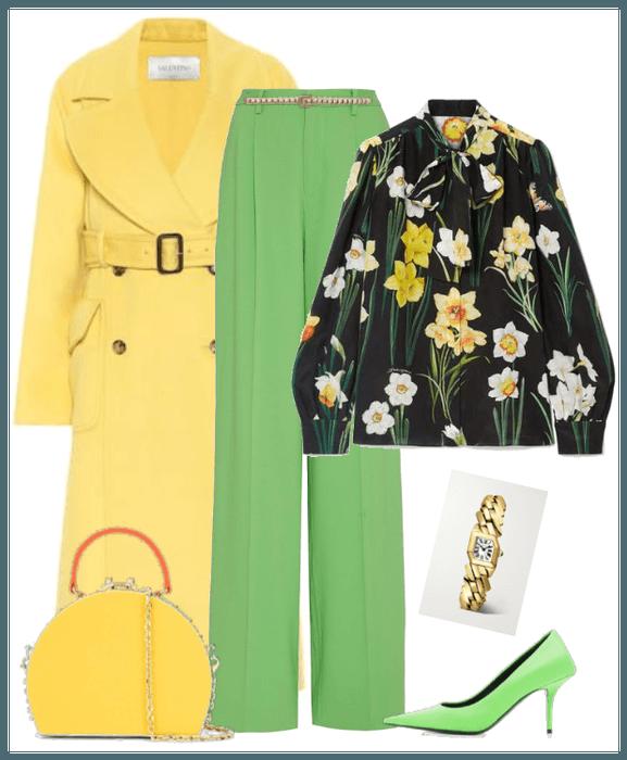 Valentino coat / yellow