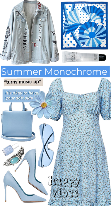 Summer Monochrome in Blue