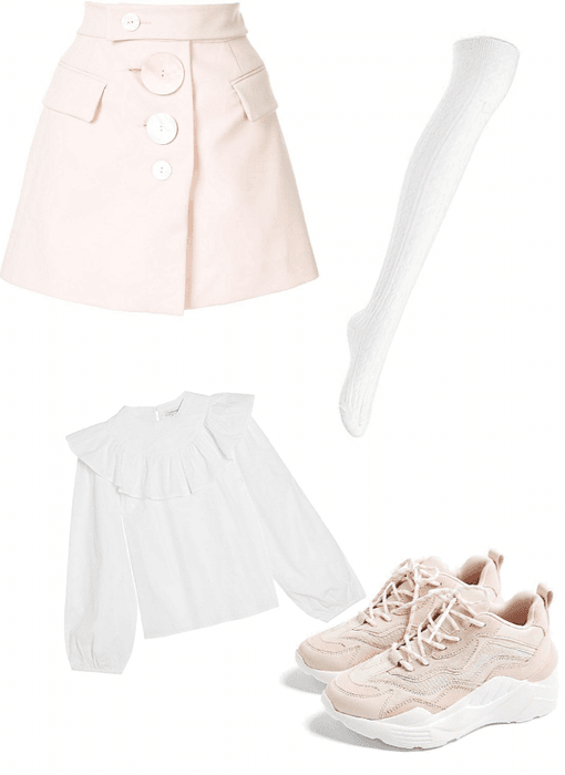 Super cute pink and white!
