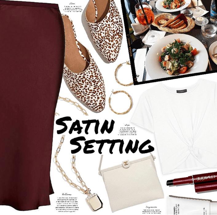 Satin Setting : Daytime look