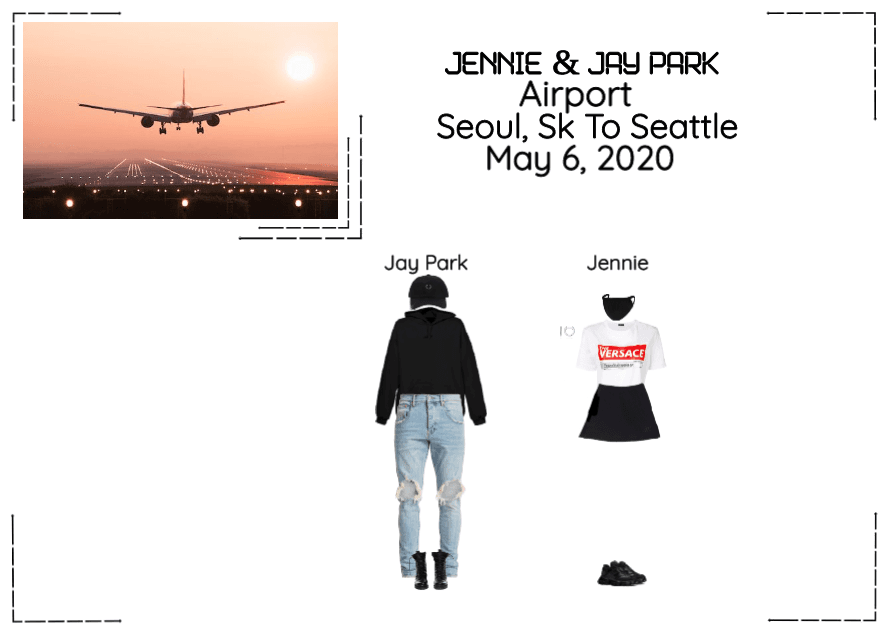 Jay Park & Jennie Airport Seoul, SK To Seattle