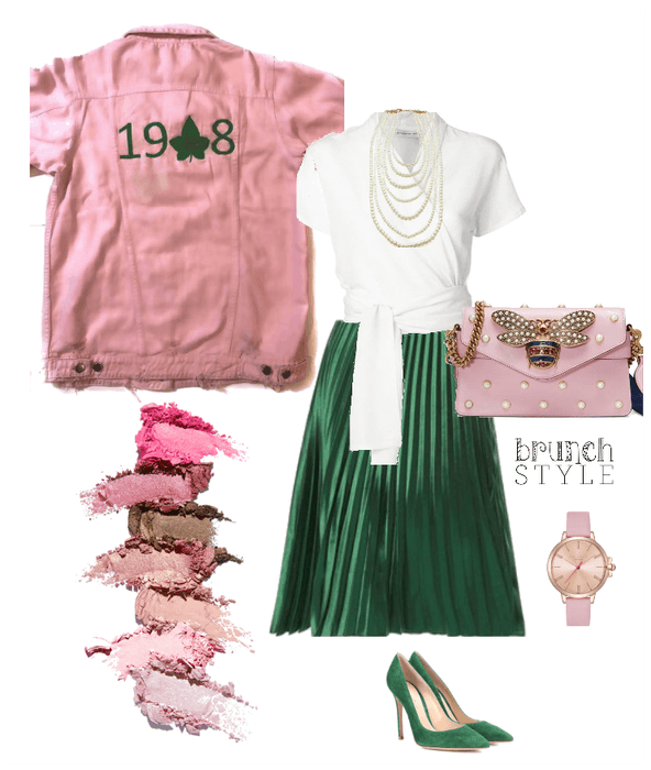 Pink and Green Brunch