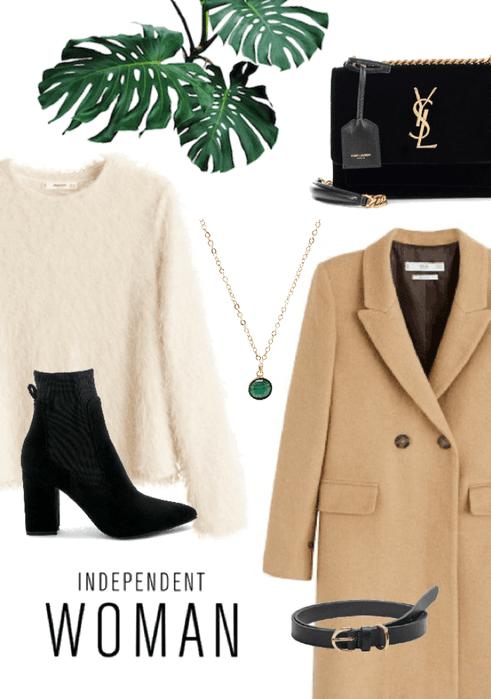 Camel coat & gold