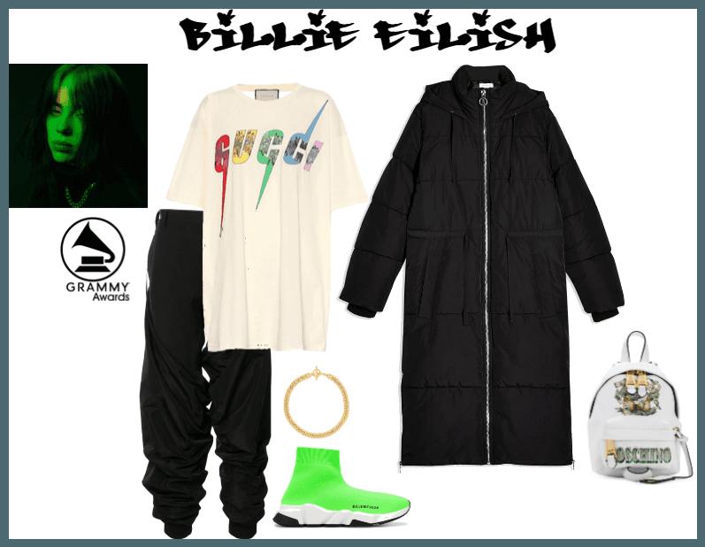 Billie Eillish Grammy Outfit