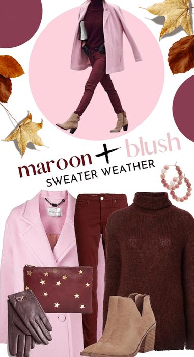 Maroon + Blush