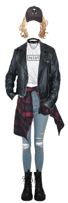 Captain Marvel's Grunge Outfit
