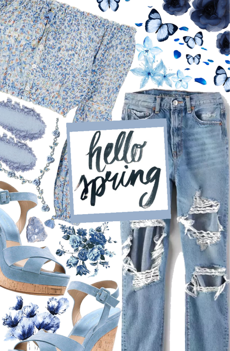 Spring Jeans and Cute Top