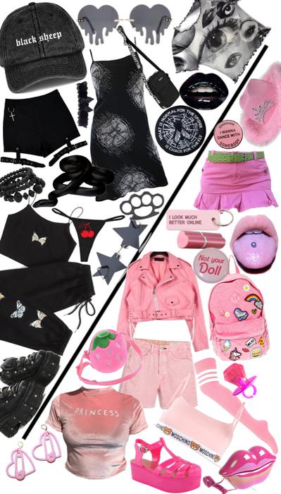 gemini black and pink