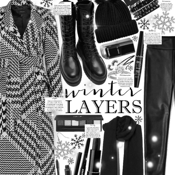 winter layers 🖤🤍