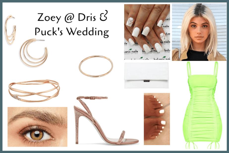 Zoe @ Dris & Puck's Wedding